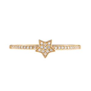 Diamond Mini Star Ring 14K - Adina's Jewels