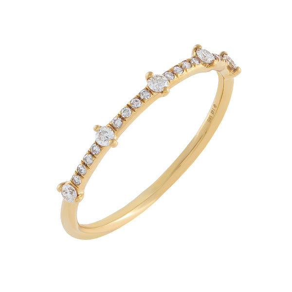Diamond Thin Ring 14K 14K Gold / 6.5 - Adina's Jewels