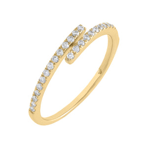 14K Gold / 6.5 Diamond Thin Wrap Ring 14K - Adina's Jewels