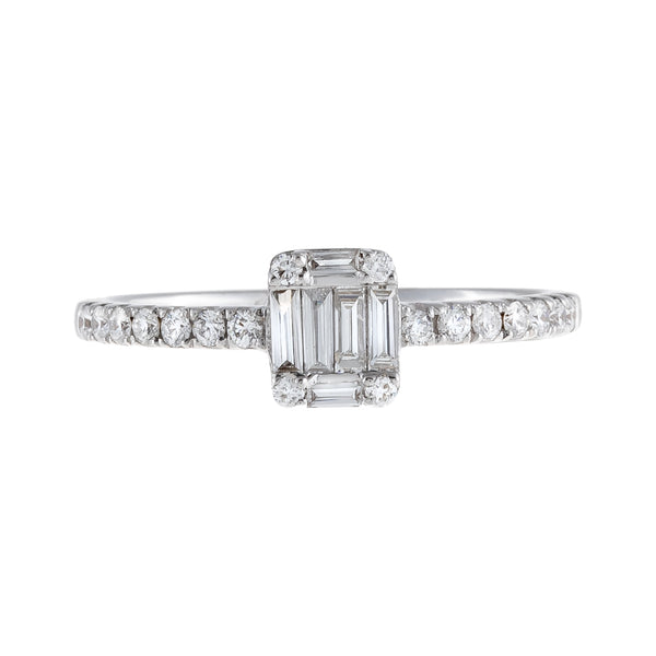 Diamond Baguette Stone Ring 18K  - Adina's Jewels