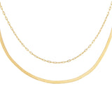 14K Gold Vintage Chain Necklace Combo Set 14K - Adina's Jewels
