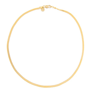 Thin Herringbone Anklet 14K 14K Gold - Adina's Jewels