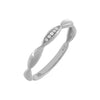 Diamond Bamboo Ring 10K 14K White Gold / 7 - Adina's Jewels