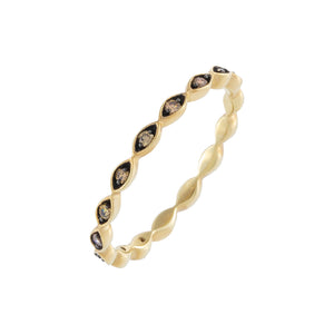 Diamond Onyx Band 10K 14K Gold - Adina's Jewels