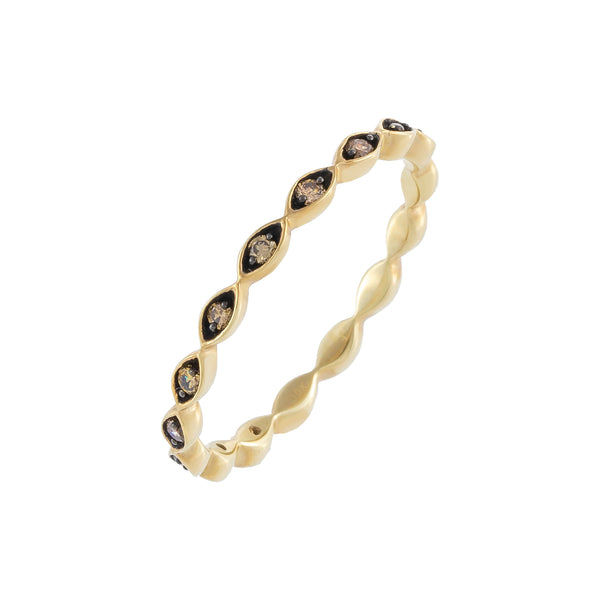 14K Gold Diamond Onyx Band 10K - Adina's Jewels