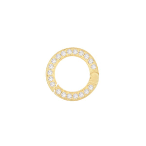 Diamond Circle Charm 14K 14K Gold - Adina's Jewels