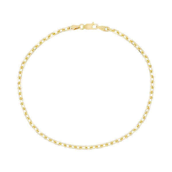 Gold Box Link Anklet - Adina's Jewels
