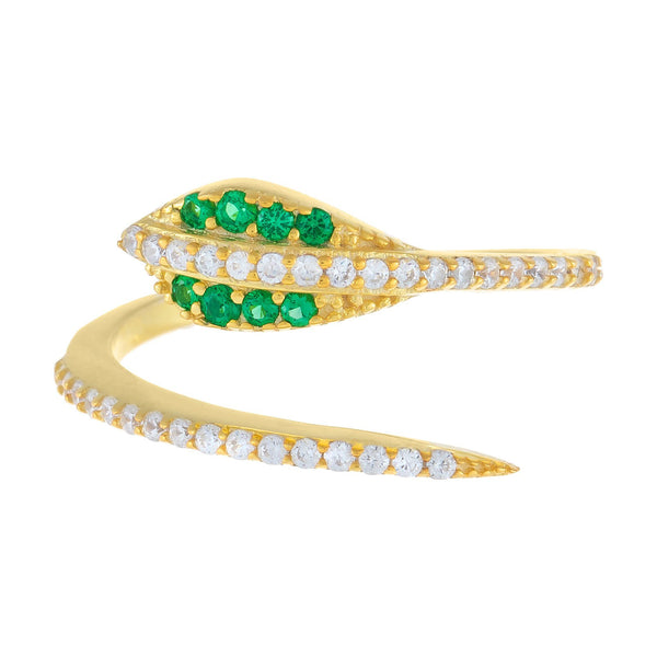 Pavé Serpent Wrap Ring - Adina's Jewels