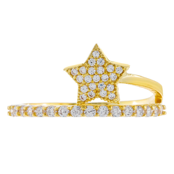 Pavé Double Wrap Star Ring - Adina's Jewels