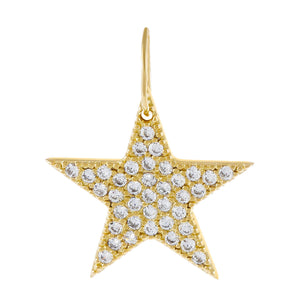 Pavé Star Charm Gold - Adina's Jewels