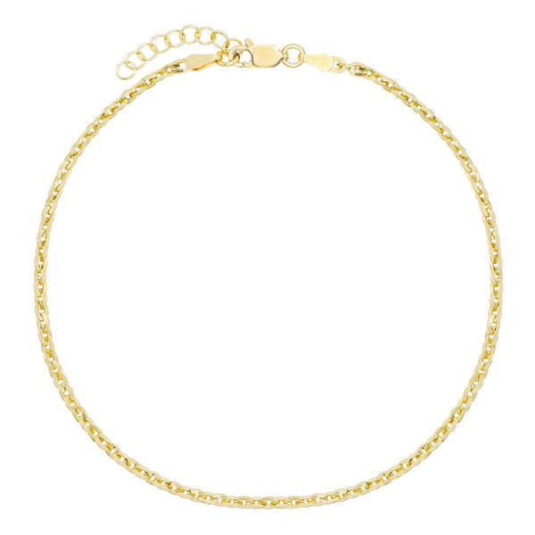 Gold Round Chain Anklet - Adina's Jewels