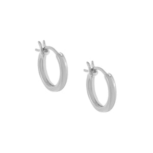 Silver / 14 MM Tube Hoop Earring - Adina's Jewels