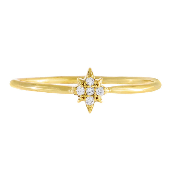 Pave Mini Starburst Ring  - Adina's Jewels