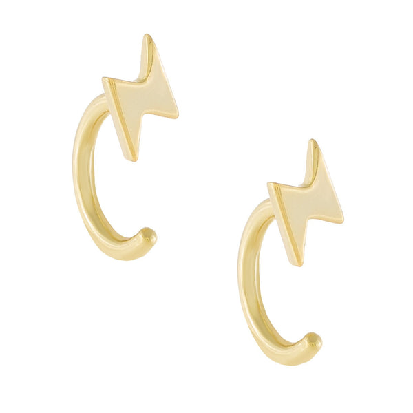 Lightning Ear Threader Hoop Earring
