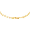 Gold Flat Cuban Curve Chain Necklace - Adina's Jewels