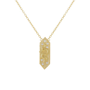 CZ Snake Pendant Necklace  - Adina's Jewels