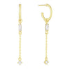 Gold Marquise Chain Drop Hoop Earring - Adina's Jewels