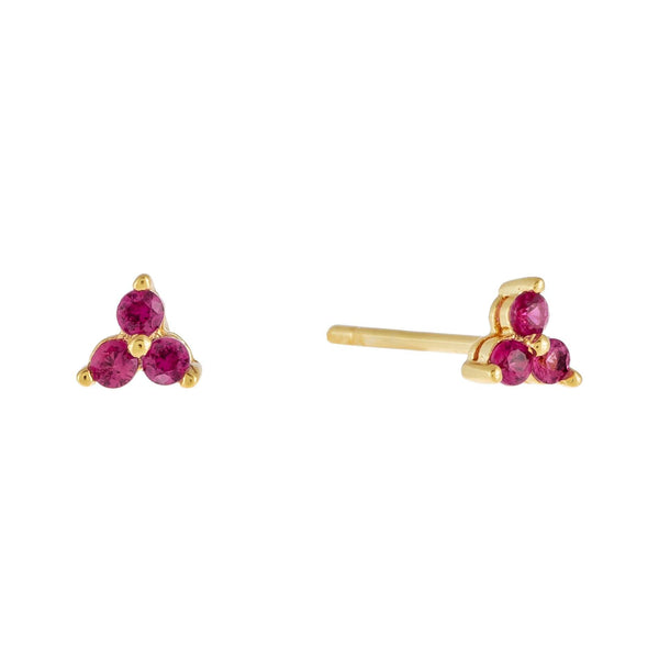 Colorful Cluster Stud Earring