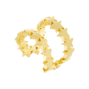 Solid Stars Ear Cuff Gold / Single - Adina's Jewels