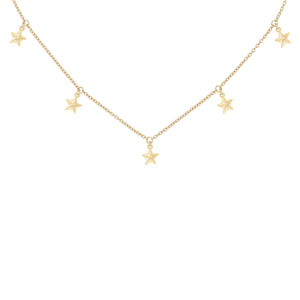 Solid Stars Necklace Gold - Adina's Jewels