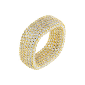 Pavé Square Ring Gold / 6 - Adina's Jewels