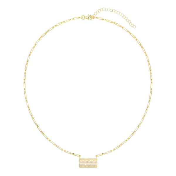 Wide Bar Link Necklace  - Adina's Jewels