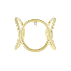 Open Circle Link Ring Gold - Adina's Jewels