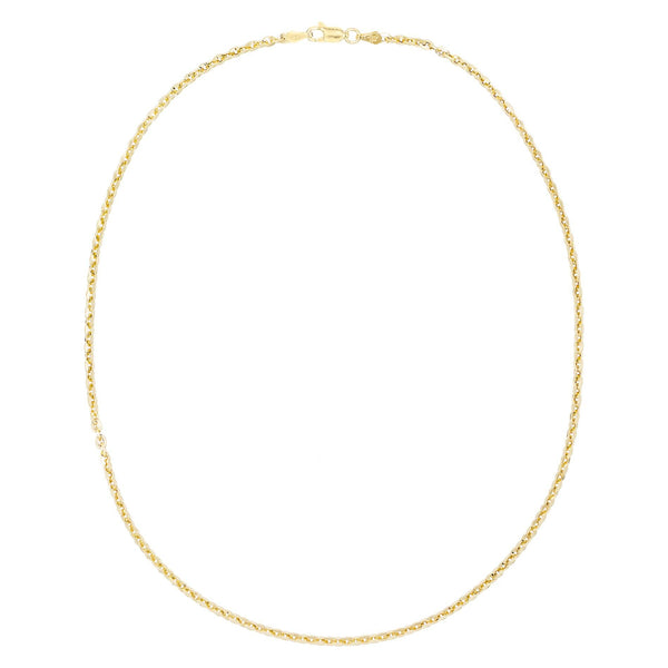 "Gold / 16"" Round Chain Necklace - Adina's Jewels"