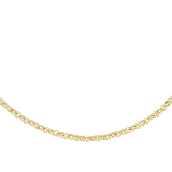"Round Chain Necklace Gold / 14"" - Adina's Jewels"