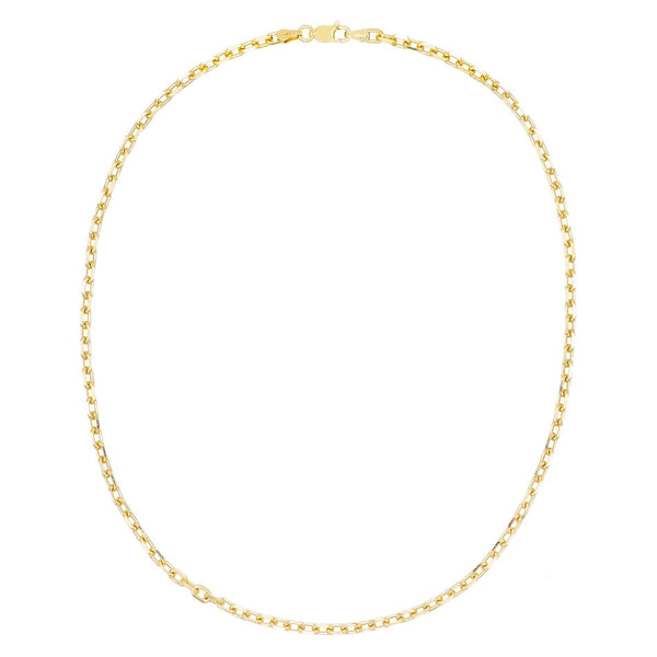 "Gold / 18"" Thin Box Link Necklace - Adina's Jewels"