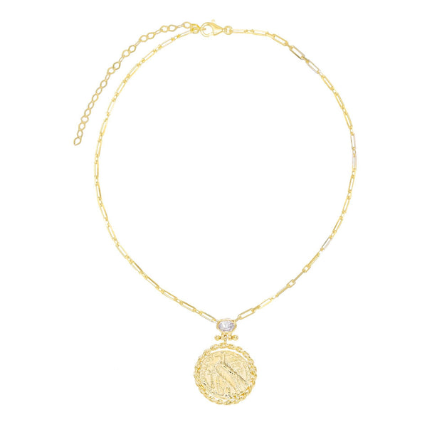 Large Coin Necklace - Adina's Jewels