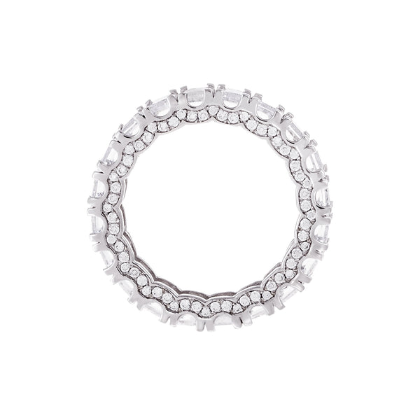 Pavé Crowned Baguette Ring - Adina's Jewels