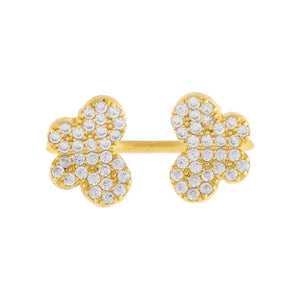 Pavé Double Butterfly Ring  - Adina's Jewels