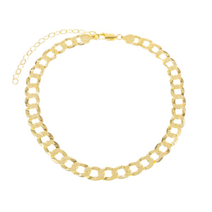 Gold XL Cuban Chain Anklet - Adina's Jewels