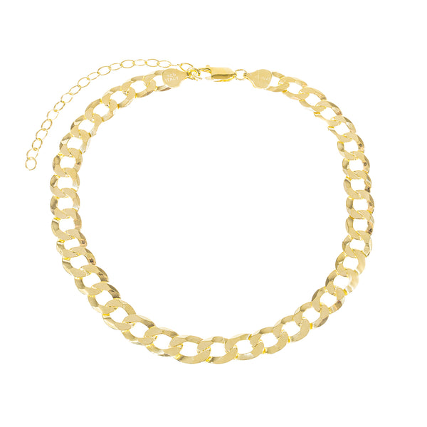XL Cuban Chain Anklet Gold - Adina's Jewels