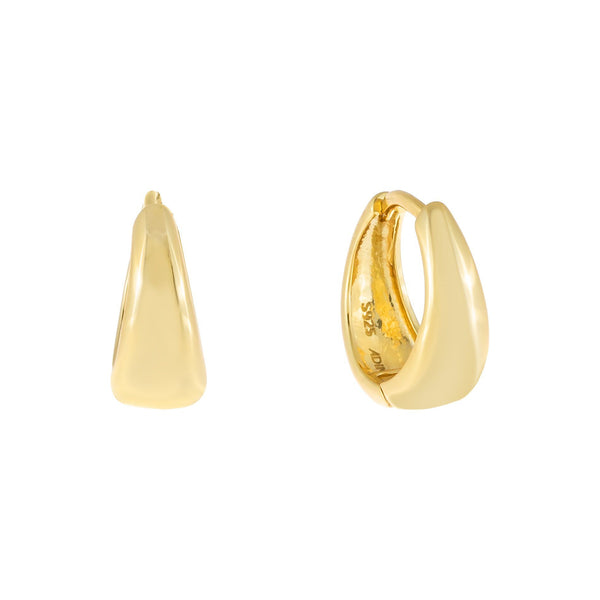 Gold Wide Solid Huggie Earring - Adina's Jewels