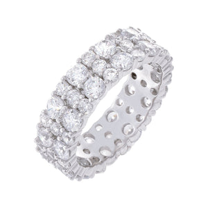 CZ Round Eternity Band Silver / 6 - Adina's Jewels