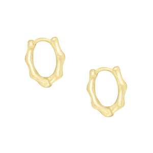 Bamboo Huggie Earring Gold - Adina's Jewels