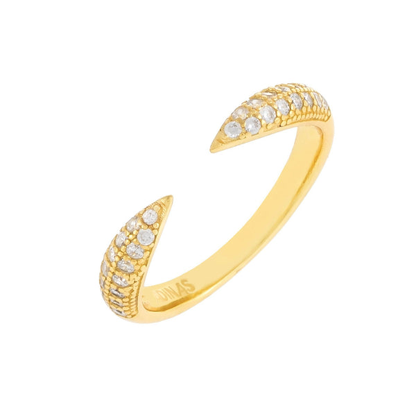 Pavé Open Claw Ring