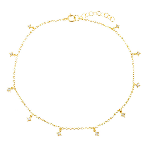 CZ Diamond Shape Anklet