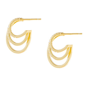 Pavé Multi Hoop Earring  - Adina's Jewels