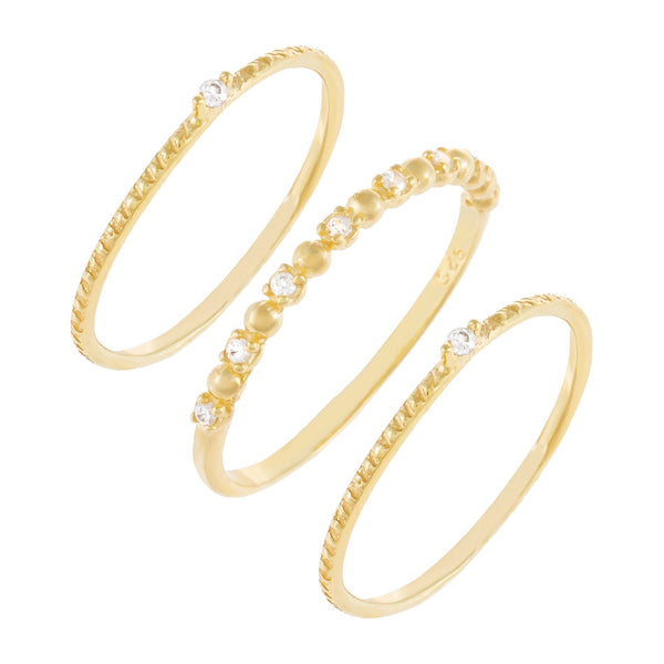 Combo / 7 Dainty Stackable Ring Combo Set - Adina's Jewels