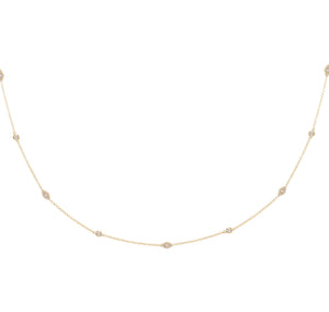 CZ Evil Eye Choker Gold - Adina's Jewels
