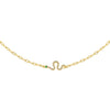 Pavé Snake Link Necklace Gold - Adina's Jewels