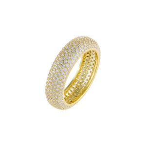 Pavé Round Band Gold / 8 - Adina's Jewels