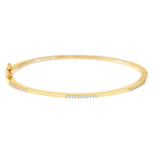 Pavé Bangle Gold - Adina's Jewels