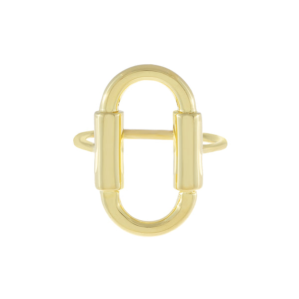 Solid Open Oval Ring Gold / 8 - Adina's Jewels