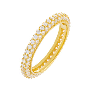 Pavé Round Ring Gold / 8 - Adina's Jewels