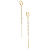 Baguette Drop Huggie Earring Gold - Adina's Jewels