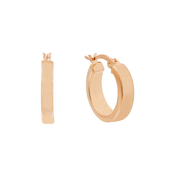 Rose Gold / 15 MM Thick Wide Hoop Earring - Adina's Jewels
